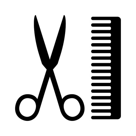 hairstylist: Hairstylist or hairdresser salon flat icon for apps, barbershops and websites