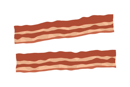bacon fat: Bacon strips realistic vector illustration Illustration