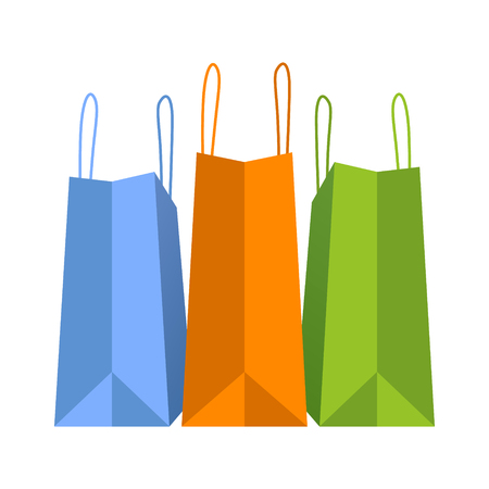 holiday shopping: Colorful holiday shopping bags vector illustration