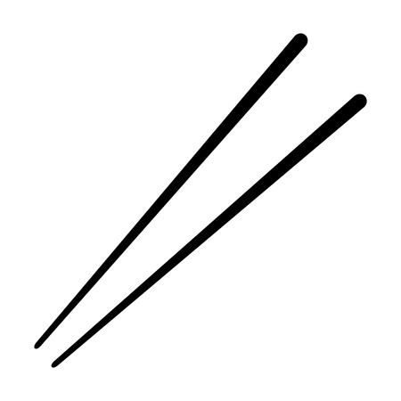 Chopsticks flat icon for food apps and websites  イラスト・ベクター素材