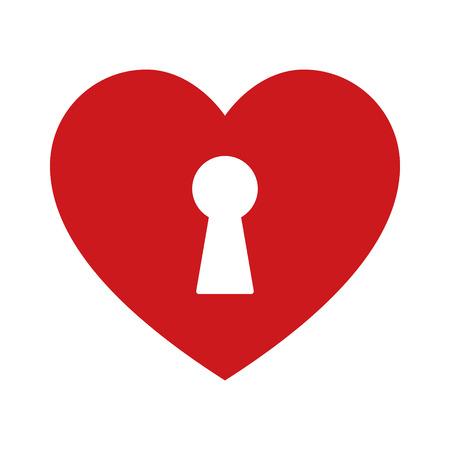 ロックを解除するアプリとウェブサイトの心フラット アイコンを愛しています 写真素材 - 49796800
