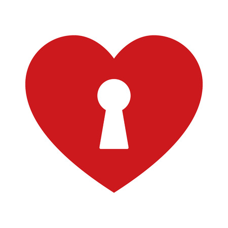 Unlock love  the heart flat icon for apps and websites
