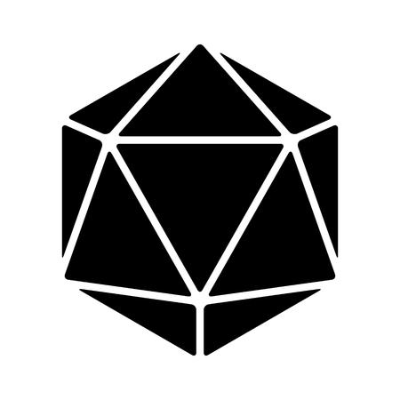 20 zijdige 20d dobbelstenen flat icoon voor apps en websites
