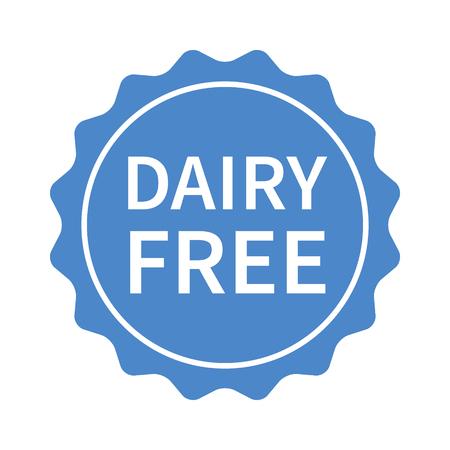 Dairy free seal, stamp, label or badge flat icon Ilustração