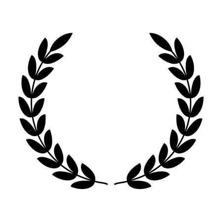 Wieniec laurowy - symbol zwycięstwa i władzy płaskiej ikony aplikacji i stron internetowych Ilustracje wektorowe