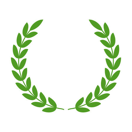 Films: Laurel wreath - symbol of victory and power flat icon for apps and websites