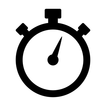 stop watch: Stopwatch timer flat icon for apps and websites