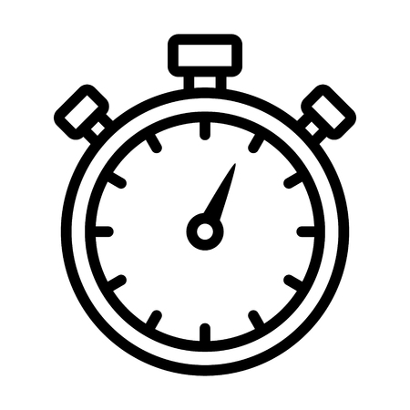 Stopwatch timer line art icon for apps and websites