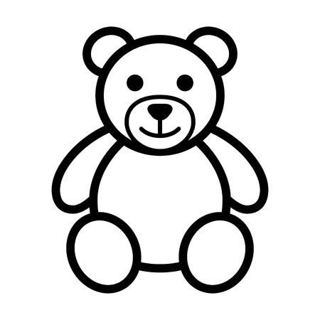 Miś pluszowy sztuki ikonę linia zabawek dla aplikacji i stron internetowych