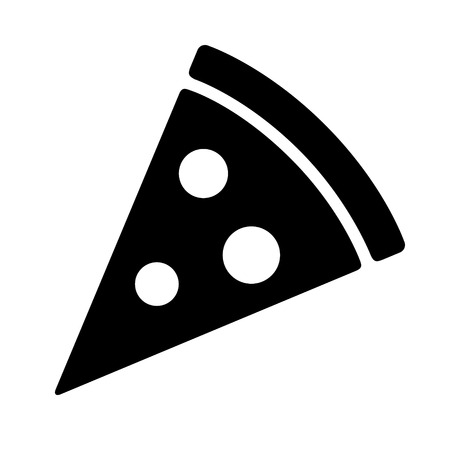pepperoni: Pizza slice with pepperoni flat icon for apps and websites