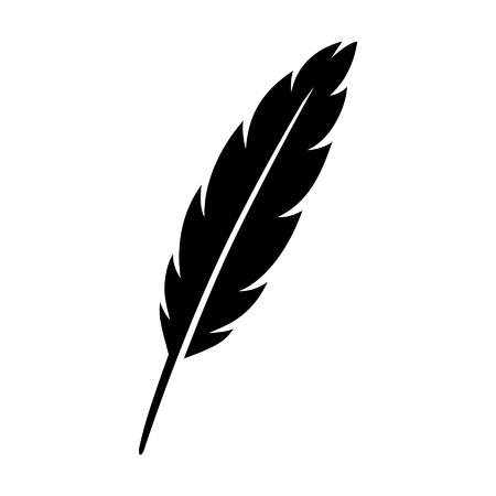 Canilla de la pluma de la pluma icono plana para aplicaciones y sitios web