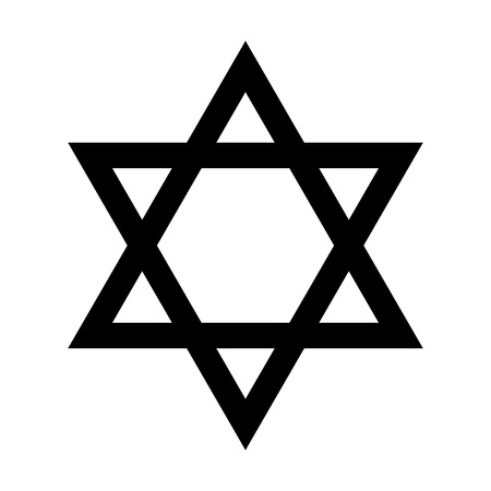 Star of David - symbol of Judaism flat icon for apps and websites