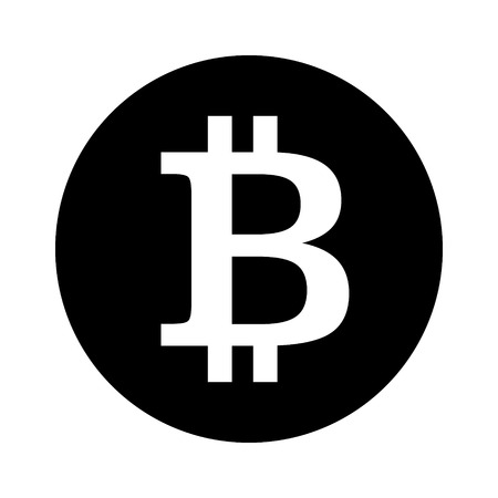 decentralized: Bitcoin cryptocurrency round flat icon for apps and websites