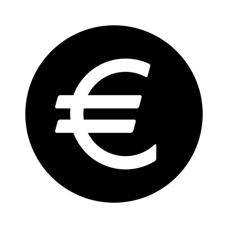 european euro: European Euro round currency symbol flat icon for apps and websites