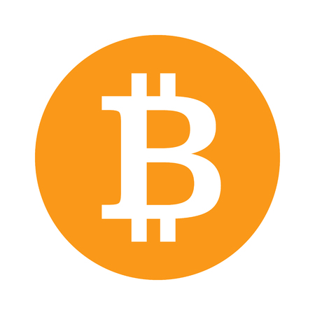 decentralized: Bitcoin cryptocurrency gold round flat icon for apps and websites Illustration
