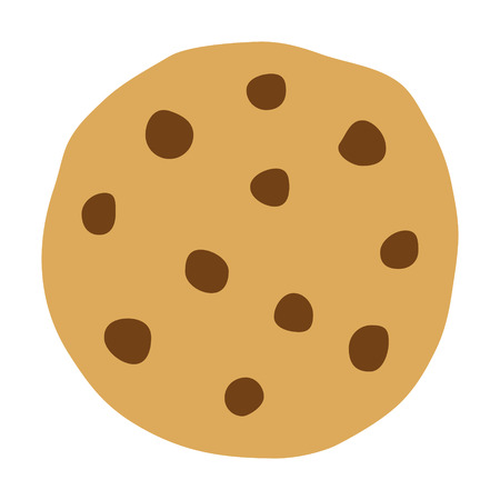chocolate chip: Chocolate chip cookie icon for food apps and websites