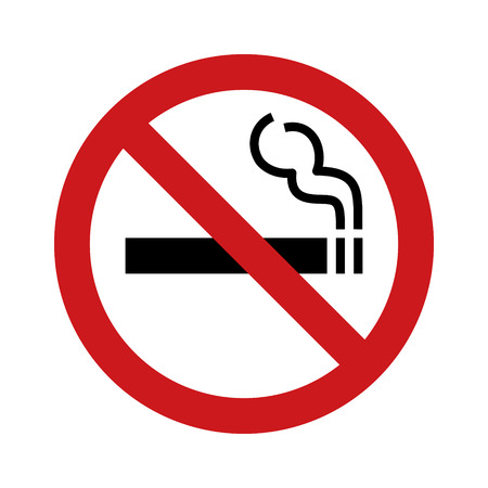 tabacco: No smoking sign  symbol flat icon for websites and print Illustration