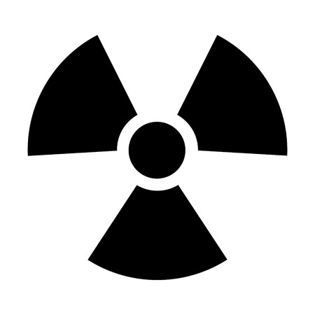 uranium: Radioactive  radiation symbol flat icon for websites print