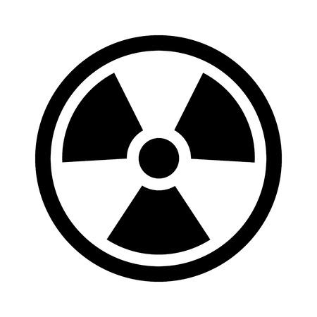 isotope: Radioactive  radiation symbol flat icon for websites print