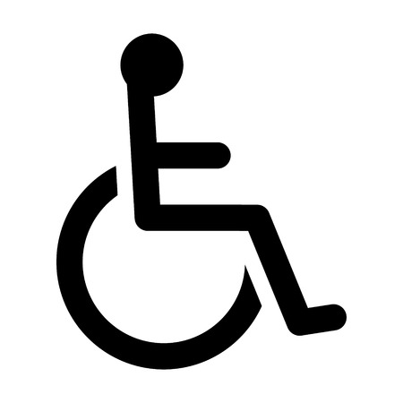 Wheelchair  handicapped access sign or symbol flat icon for websites and print Иллюстрация
