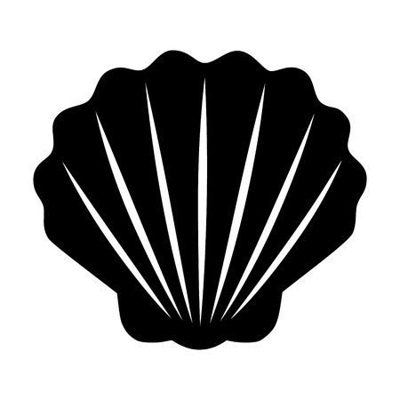 Seashell  shellfish flat icon for apps and websites Çizim