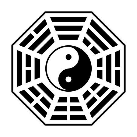 八卦 - web サイトや印刷の道教道教フラット アイコンのシンボル
