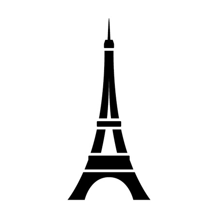 Eiffel Tower  Tour Eiffel in Paris flat icon for apps and websites  イラスト・ベクター素材