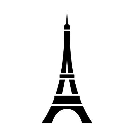 contorno: Torre Eiffel Torre Eiffel en París icono plana para aplicaciones y sitios web Vectores