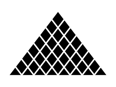 iconic architecture: The pyramid in flat icon for apps and websites Illustration