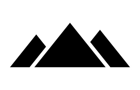 giza: Giza pyramid complex in Egypt flat icon for apps and websites Illustration