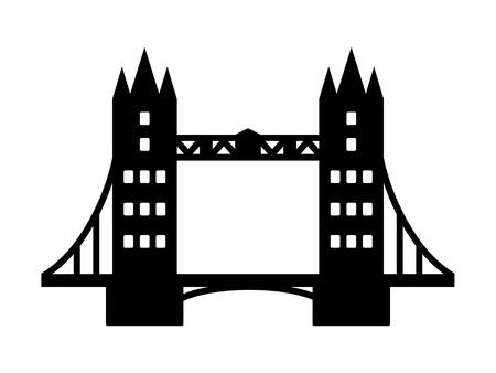 Tower Bridge à Londres point de repère icône plat pour les applications et les sites Web