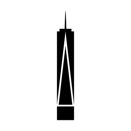 One World Trade Center  Freedom Tower in New York City flat icon for apps and websites