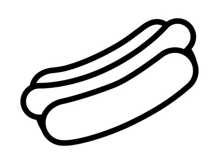trimmings: Hotdog  hot dog line art icon for food apps and websites