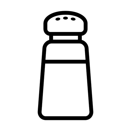 condiment: Salt condiment shaker line icon for food apps and websites Illustration