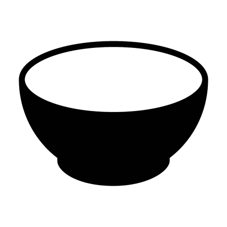 Soup bowl dishware flat icon for food apps and websites