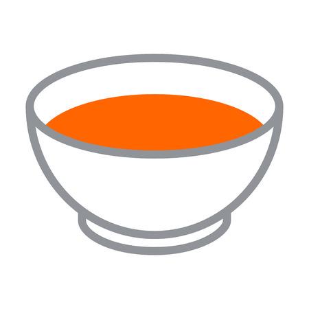 Kom tomatensoep effen kleur icoon voor apps en websites