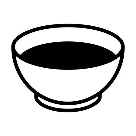Kom soep flat icoon voor apps en websites Stock Illustratie