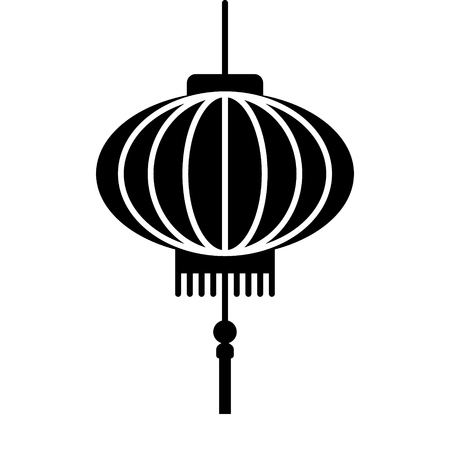 red lantern: Chinese lantern festival flat icon for apps and websites