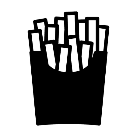 French potato fries flat icon for food apps and websites