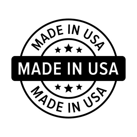 Made in the USA badge, label, seal, sign flat icon for goods and products Stock Vector - 50764732