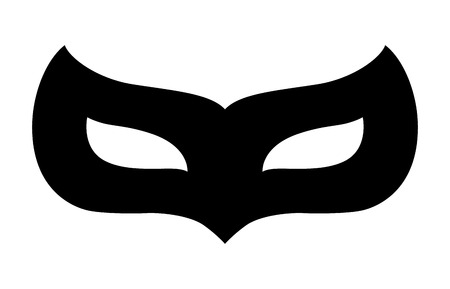 secret identities: Carnival disguise mask flat icon for apps and website Illustration