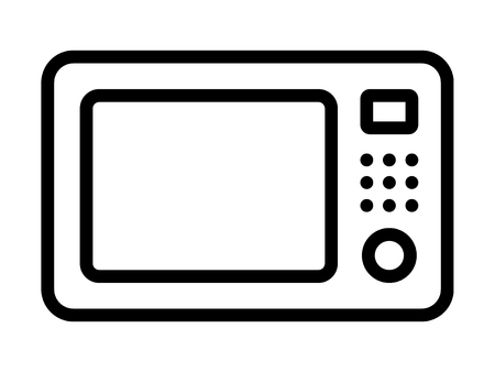 microwave countertop oven line art icon for apps and websites