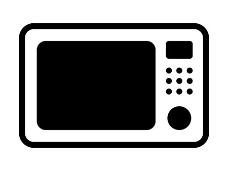 microwave countertop oven flat icon for apps and websites Illustration
