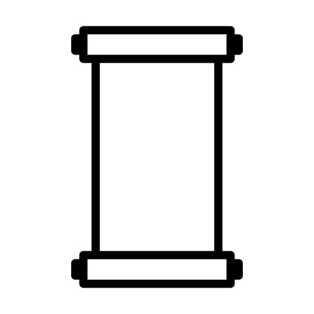 paper spell: Ancient vertical scroll line art icon for apps and websites