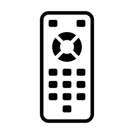 TV remote control line art icon for apps and websites