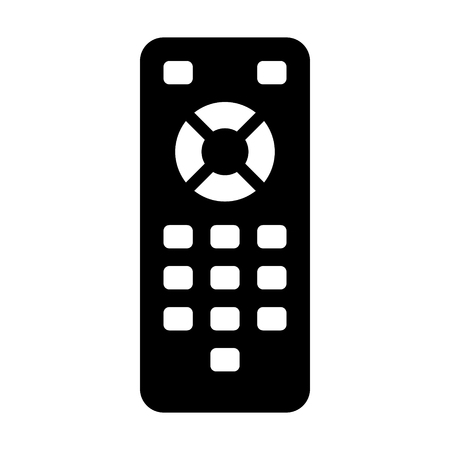 TV remote control flat icon for apps and websites Illustration