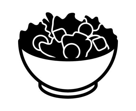 ガーデン サラダ レタス、トマトのパン粉アプリとウェブサイトのフラット アイコン