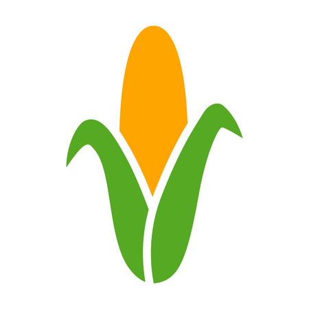食品アプリとウェブサイトのトウモロコシ トウモロコシのフラット カラー アイコンの耳