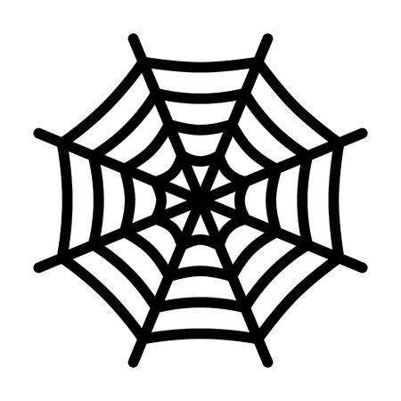 spiderweb: Spider web spiderweb line art icon for apps and websites