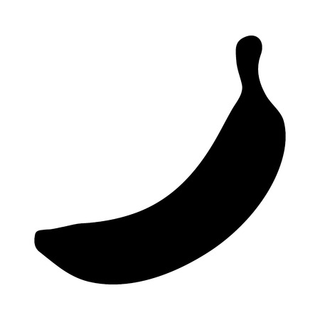 Banana  plantain fruit flat icon for food apps and websites
